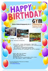 Flyer Geburtstagsfeier